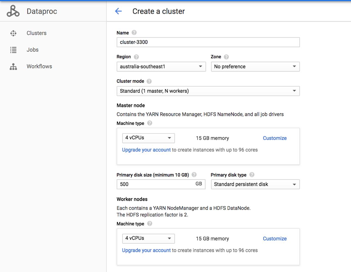 Dataproc Cluster