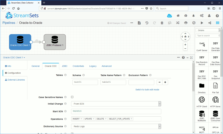 Configure SCN