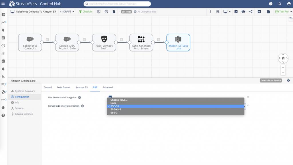 Ingest Salesforce Data Into Amazon S3 Data Lake using StreamSets Data Collector
